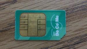 docomoのSIMカード